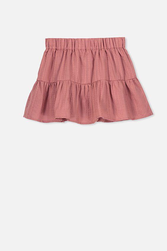 Suri Skirt, RUSTY ROSE/TEXTURED STRIPE