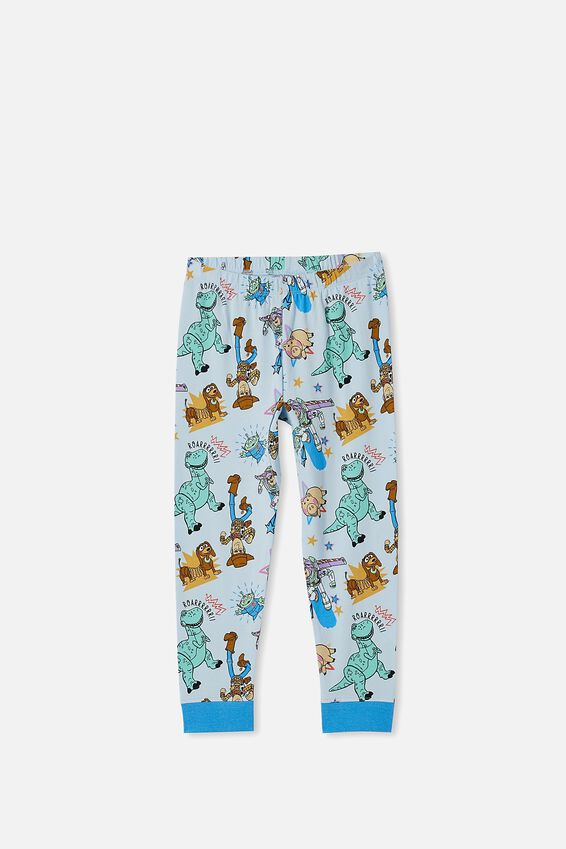 Orlando Long Sleeve Pyjama Set, LCN DIS WOODY MADE TO PLAY FROSTY BLUE