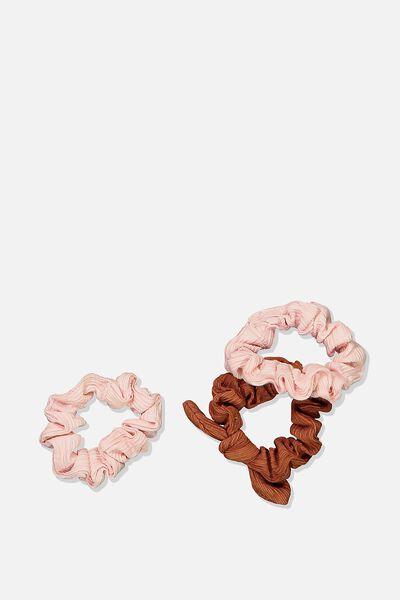 Mini Scrunchie, SWEET BLUSH TEXTURE