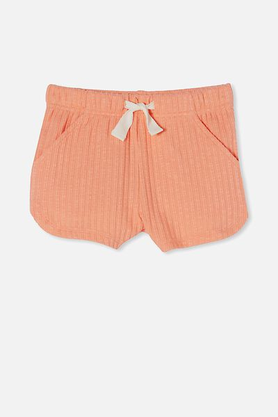 Gianna Knit Short, MUSK MELON RIB