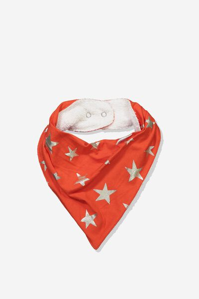 Dribble Bib, ENGINE RED/GOLD STARS