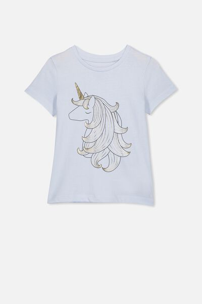 Penelope Short Sleeve Tee, ARCTIC BLUE/UNICORN HAIR/MAX