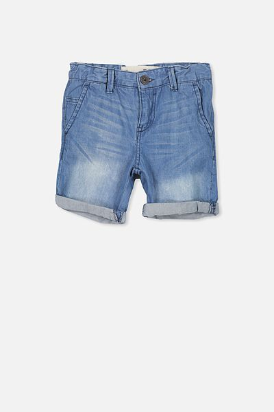 William Walk Short, MID BLUE DNM WASH