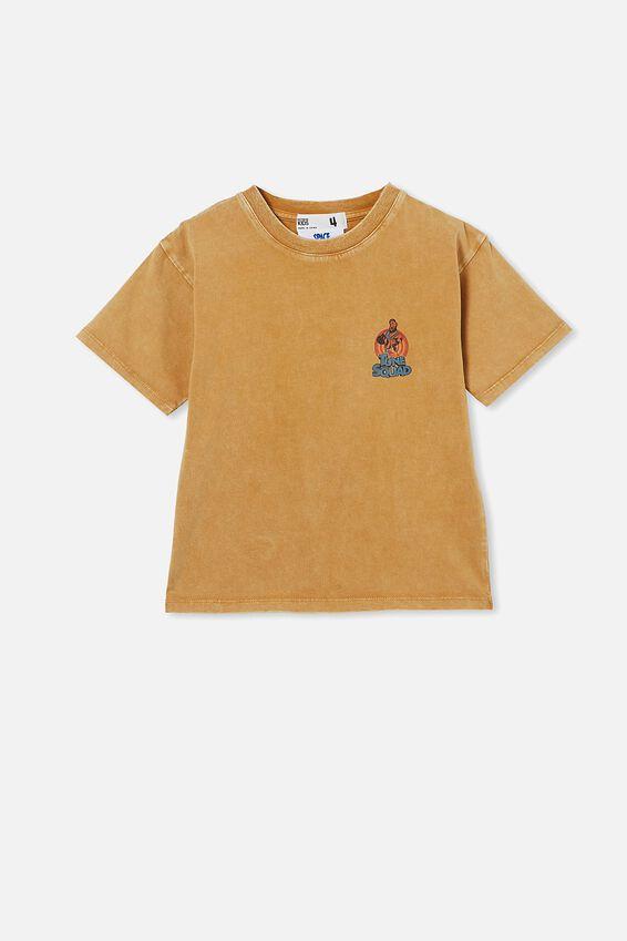 License Drop Shoulder Short Sleeve Tee, LCN WB HONEY GOLD / LEBRON