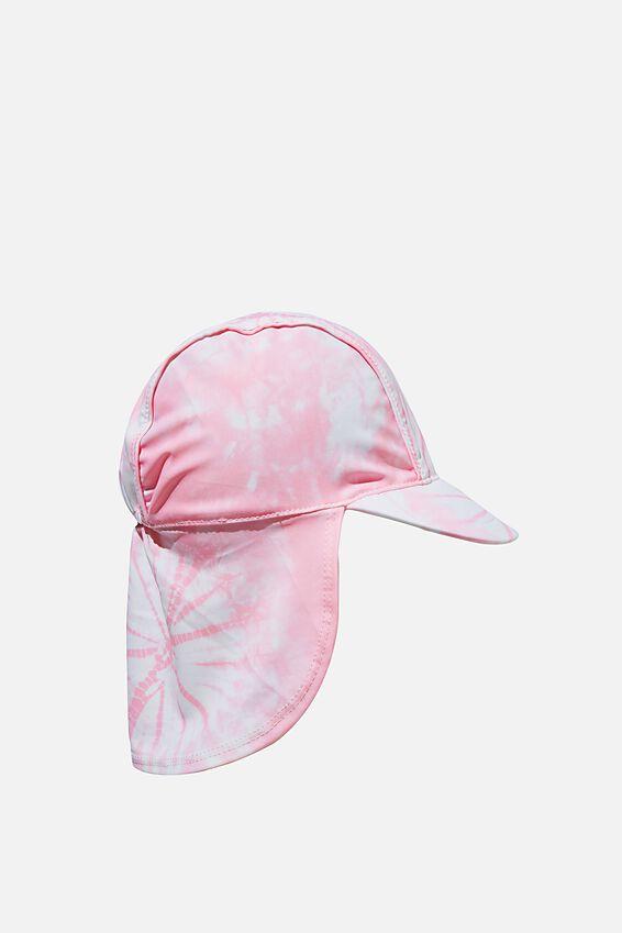 Sammy Swim Hat, MARSHMALLOW PINK TIE DYE