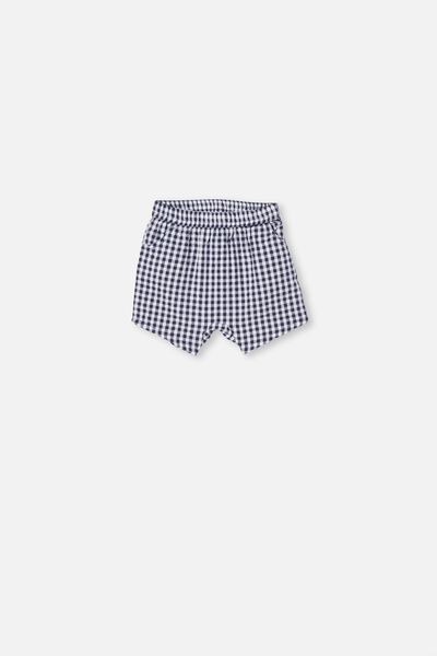 Kelly Short, NAVY BLAZER/MINI GINGHAM