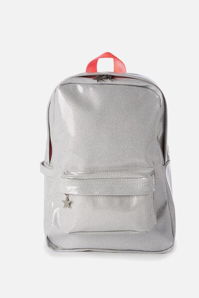 Fashion Backpack, SILVER GLITTER