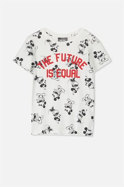 Lux Short Sleeve Tee, MICKEY THE FUTURE IS EQUAL/SET IN SLEEVE