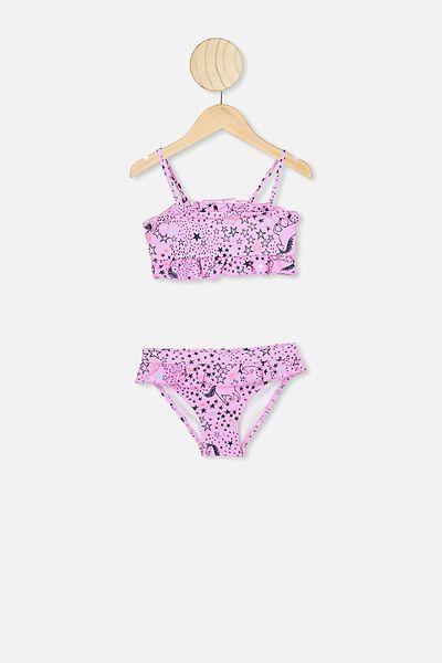 Riley Ruffle Bikini, STARRY UNICORN/LAVENDER FOG