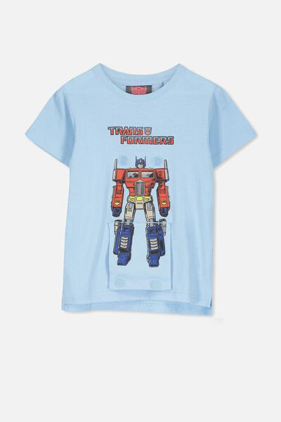 Short Sleeve License1 Tee, LCN HAS BUDGIE BLUE/INETRACTIVE TRANSFORMERS