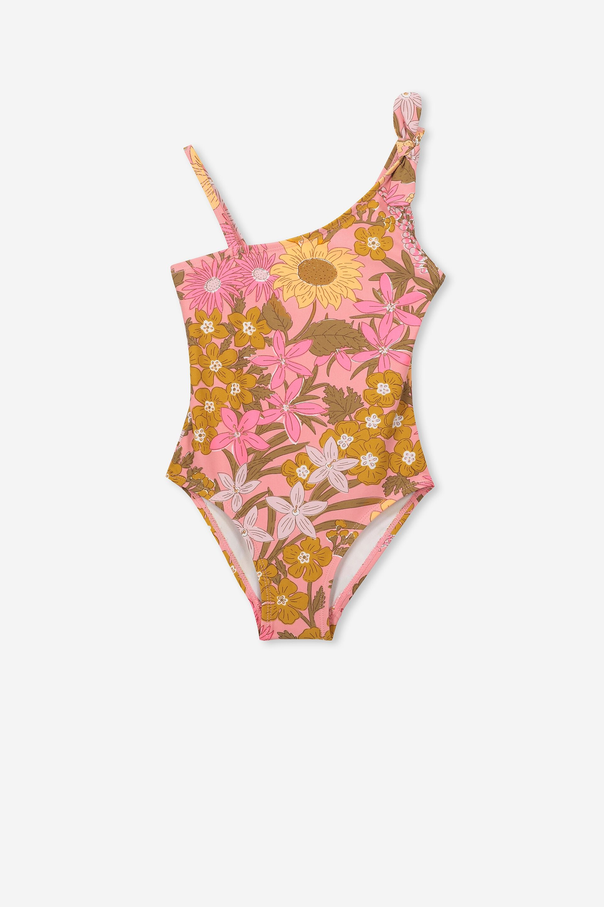 MILKY Baby Girl Pink w Hearts Bathers Bikini Bottom Size 0 SLIM FIT New