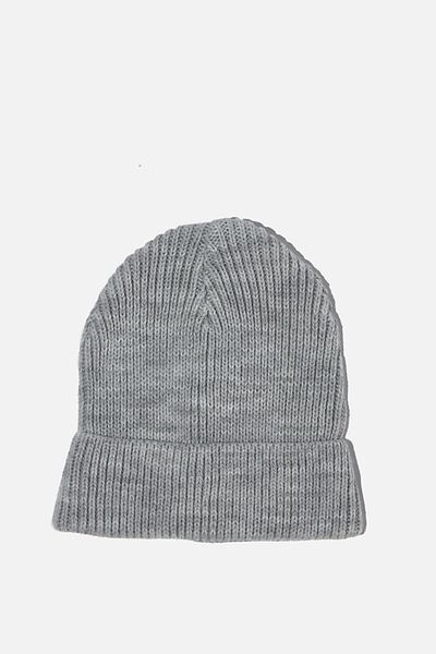 Baby Winter Knit Beanie, LIGHT GREY MARLE