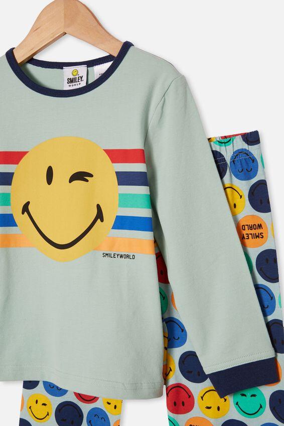 Orlando Long Sleeve Pyjama Set Licensed, LCN SMILEY FACE DUCK EGG