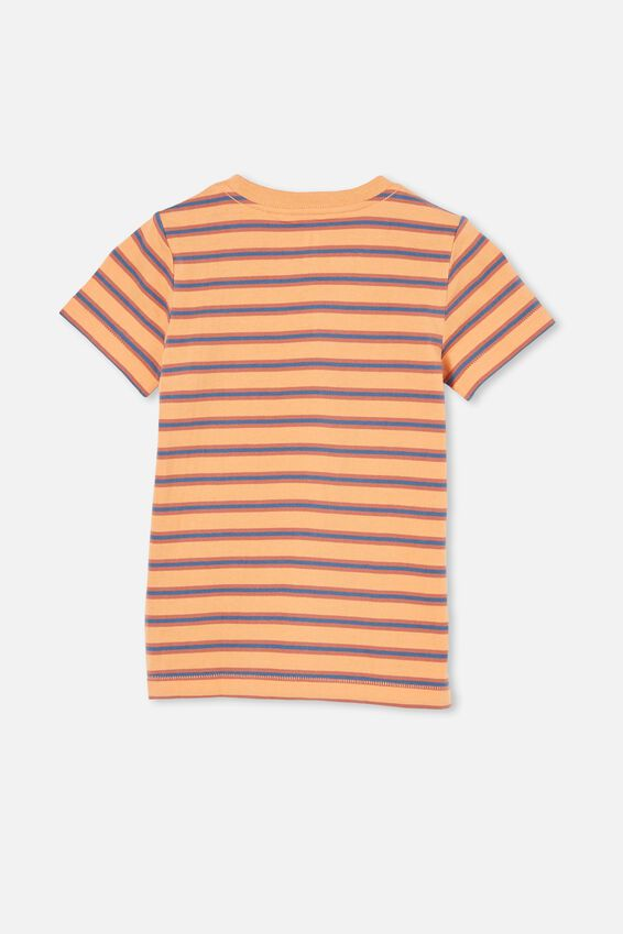 Max Short Sleeve Tee, MELON POP/ PETTY BLUE STRIPE SMILE