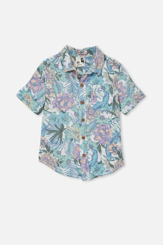 Resort Short Sleeve Shirt, TROPICAL FLORAL