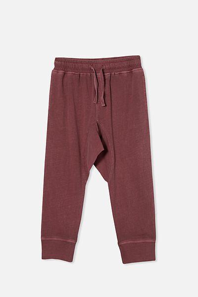 Raffy Drop Crotch Pant, VINTAGE BERRY WASH