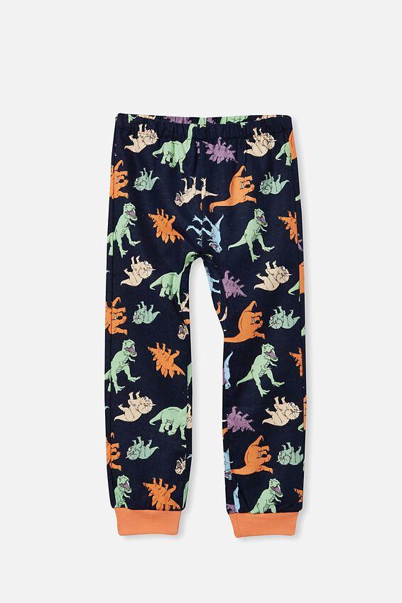 William Long Sleeve Pyjama Set, MULTI DINO/NAVY BLAZER