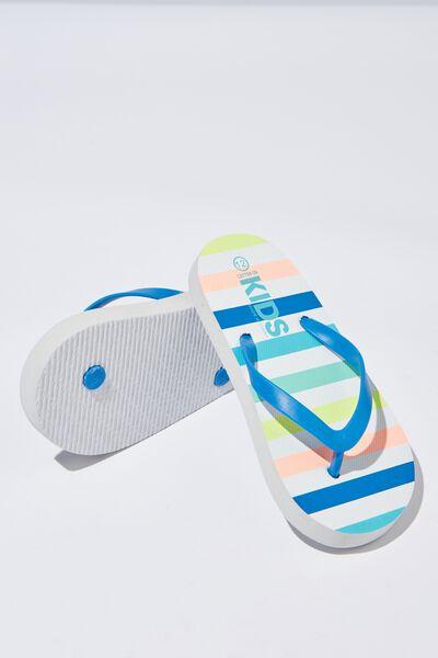 Printed Flip Flop, B MALIBU STRIPE