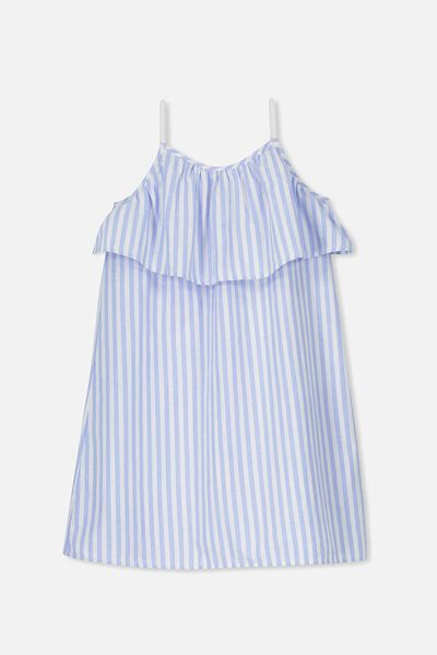 Fleur Dress, BLUE/VANILLA STRIPE