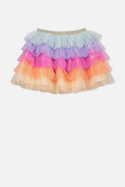 Trixiebelle Tulle Skirt, RAINBOW TIERED