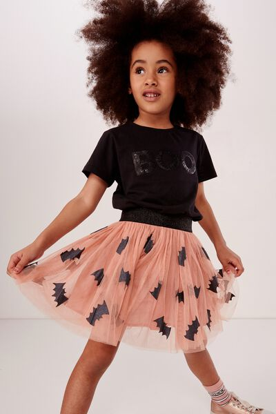 Trixiebelle Tulle Skirt, LCN WB/CAMEO BROWN/BATMAN