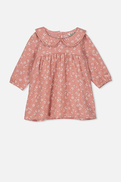 Arlo Long Sleeve Dress, CAMEO BROWN/EMMA FLORAL