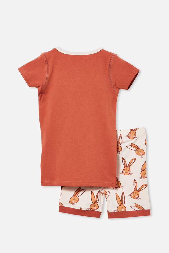 Nikki Short Sleeve Pyjama Set, SOME BUNNY/CHUTNEY