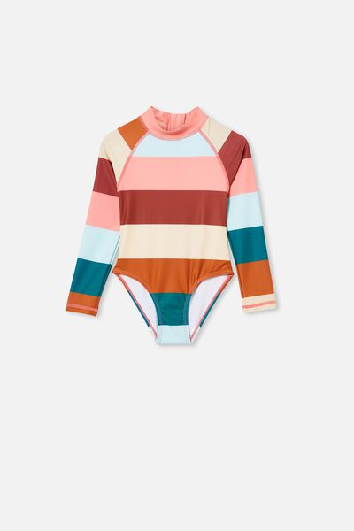 Lydia One Piece, MULTI STRIPE