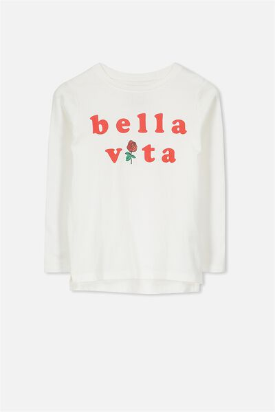 Penelope Long Sleeve Tee, VANILLA/BELLA VITA/SET IN