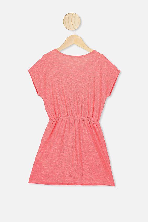 Sigrid Short Sleeve Dress, RETRO CORAL TEXTURE