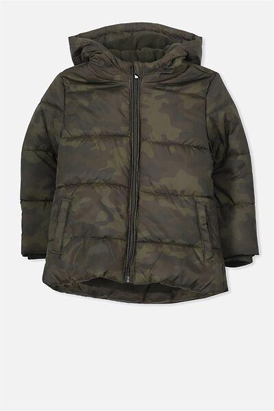 Peyton Puffer Jacket, CAMO