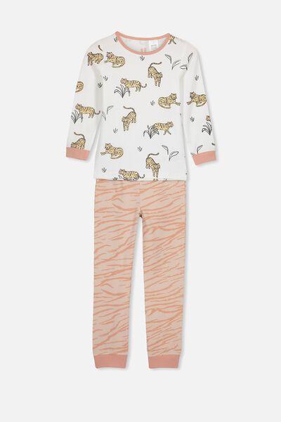 Ruby Long Sleeve Girls Pyjamas, TIGER