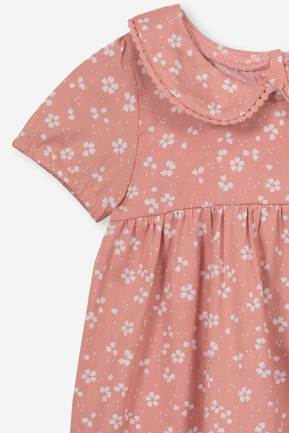 Arlo Short Sleeve Dress, CAMEO BROWN/EMMA FLORAL