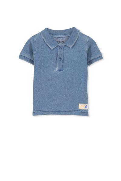 Hugo Polo Tee, LT BLUE INDIGO