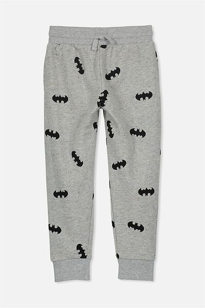 Licence Slouch Trackpant, LT GREY NEP/BATMAN