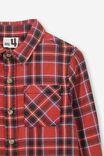 Noah Long Sleeve Shirt, RALLY RED CHECK SW