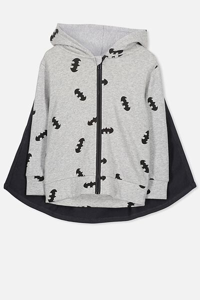 License Halloween Zip Up, GREY MARLE/BATMAN CAPE