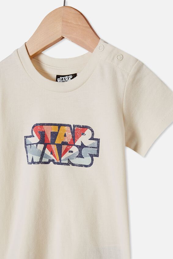 Jamie Short Sleeve Tee, LCN LU DARK VANILLA RAINBOW STAR WARS