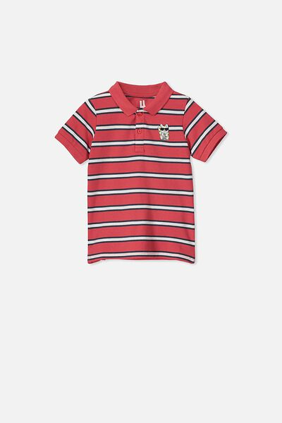 Kendricks Polo, TOMATO PUREE/STRIPE CAT