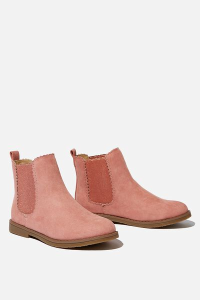 Scallop Gusset Boot, DUSTY ROSE