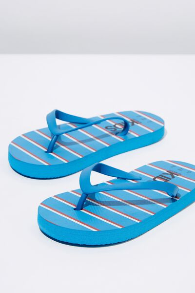 Printed Flip Flop, BLUE/RED STRIPE