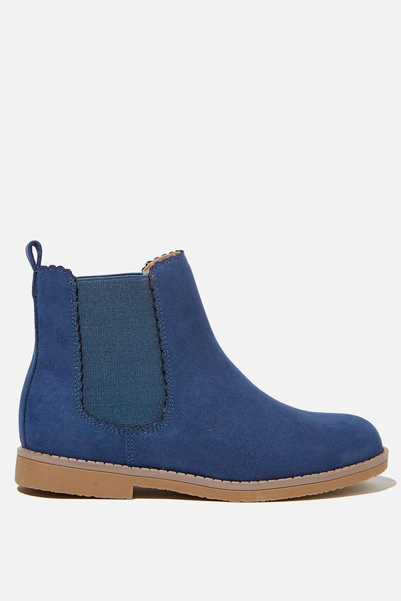Scallop Gusset Boot, VINTAGE NAVY