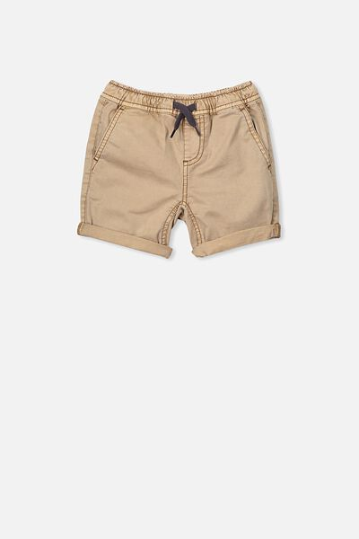 Finn Woven Short, WASHED STONE