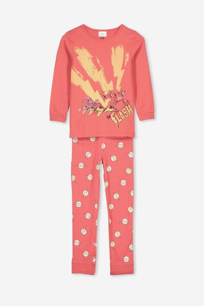 Harrison Long Sleeve Boys Pyjamas, LCN MAR FLASH RED