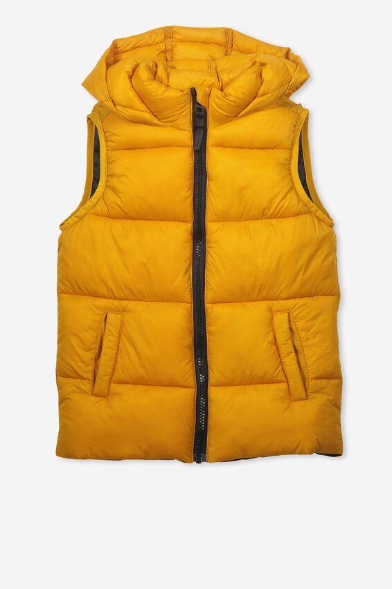 Billie Puffer Vest, GOLDEN ORANGE