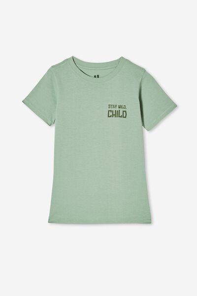 Max Short Sleeve Tee, SMASHED AVO/ STAY WILD CHILD