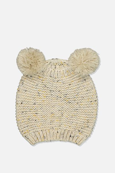 Fashion Beanie, OATMEAL TWIST CRITTER