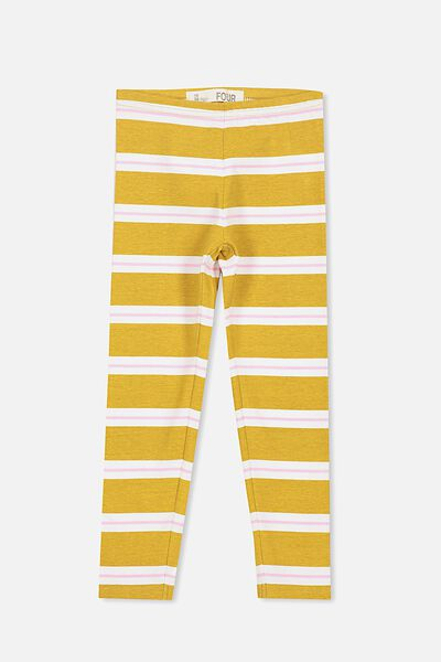 Huggie Tights, MINERAL YELLOW/VANILLA PINK STRIPE