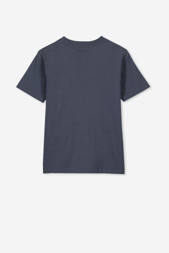 Short Sleeve License1 Tee, LCN WB VINTAGE NAVY/SUPERMAN REVERSE