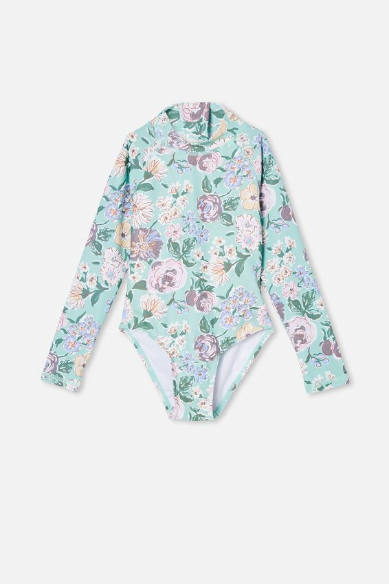 Lydia One Piece, DUCK EGG/PAINTERLY FLORAL
